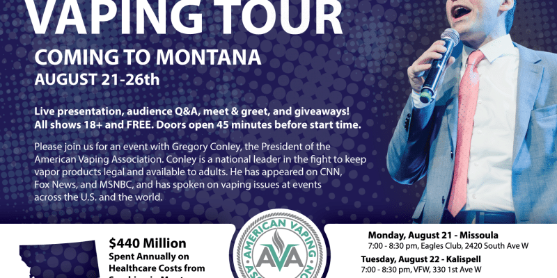 The Truth About Vaping Tour — Coming to MT and SD in August